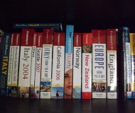My travel bookshelf is heavy on the Frommer's