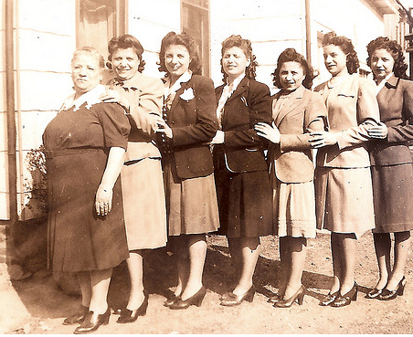 The Mancuso Women (My great-grandmother, my grandmother and my great aunts)