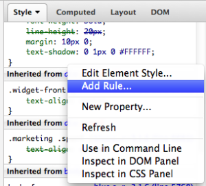 Add CSS Rule