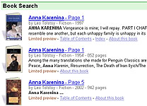 Anna Karenina Search on Google Book Search