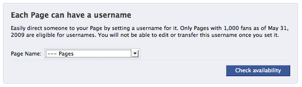 Usernames for Facebook Pages - What I Learned Today
